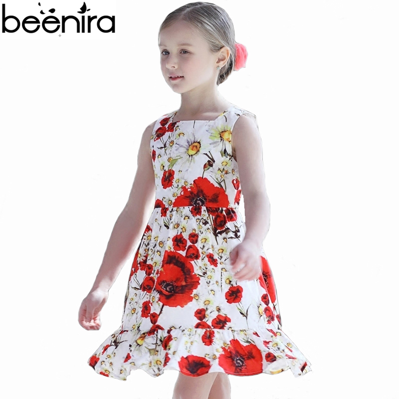 BEENIRA Summer Girls Princess Dress Baby Cotton Daisy Print Vest Costume Child Party Clothing High Quality 2017<br>