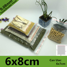 500pcs 6*8cm PE Clear Transparent Photo Card Packaging Bags Plastic Travel Necklace Jewelry Diy Custom Ziplock Self Seal Bag(China)
