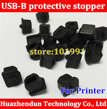 500pcs USB-B printer port dust stopper computer class digital jack soft silicone Printer Stopper Free shipping(China)