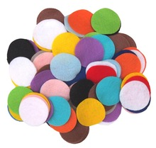 20mm Eco-friendly 144PCS  Round Felt Fabric Pads Accessory Patches Circle Felt Pads Fabric Flower Accessories