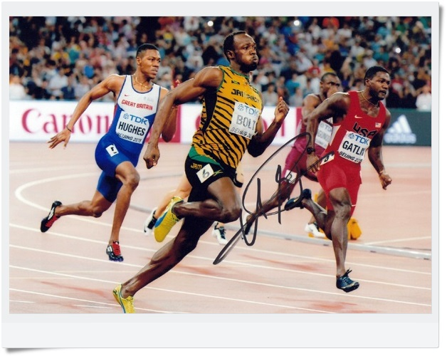 signed Usain Bolt  autographed  original photo 7 inches freeshipping  6 versions 082017<br>