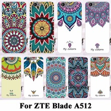 AKABEILA Soft TPU Hard Plastic Cell Phone Cases For ZTE Blade A512 Case Shell Covers Bags Skin Flower Painted Case Cover(China)