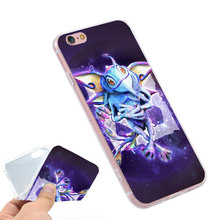 Puck Dota 2  Clear Soft TPU Slim Silicone Phone Case Cover for iPhone 4 4S 5C 5 SE 5S 7 6 6S Plus 4.7 5.5 inch