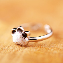 2017 new high popularity simple trend cat claws ring open ring Meng pet cute cat CR075