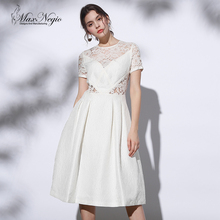 MaxNegio 2017 Newest Fashion Brand High End Sexy Patchwork Lace One Piece Casual Party Dress