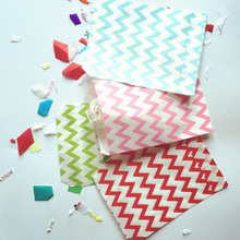 25Pcs Stripe Printed Grease Proof Paper Bag Favor Gift Packaging Candy Gift Bags Food Packaging Christmas Wedding Party Favour