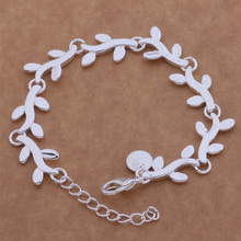 2016 Classic Charm Jewelry Cute Leaf Bracelet For Women Loving Gift AB069