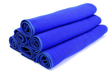 2PCS 30*70 CM Soft Car Wipe Cloth Wash Cleaner Cleaning Towel Washing Towel Micro Fibre blue(China)