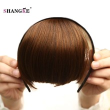 Buy SHANGKE Short Blunt Bangs Heat Resistant Synthetic Fake Hair Pieces Women Hairstyles Fake Hairpieces Tidy Hair Bangs Women for $5.25 in AliExpress store