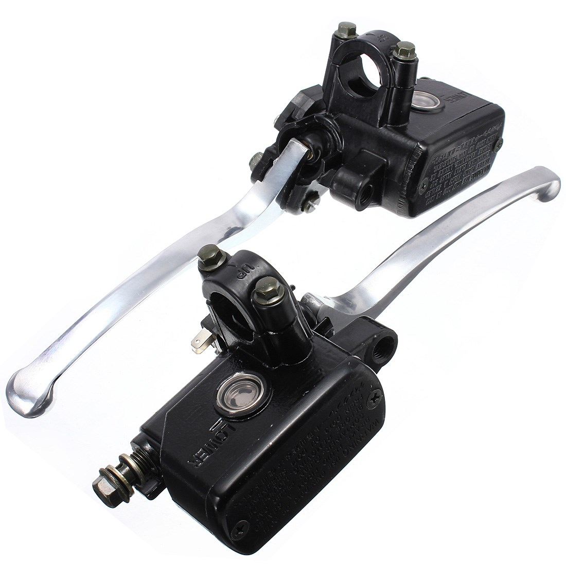1 Pair 7/8inch 20mm Motorcycle Hydraulic Brake Clutch Lever Master Cylinder <br>