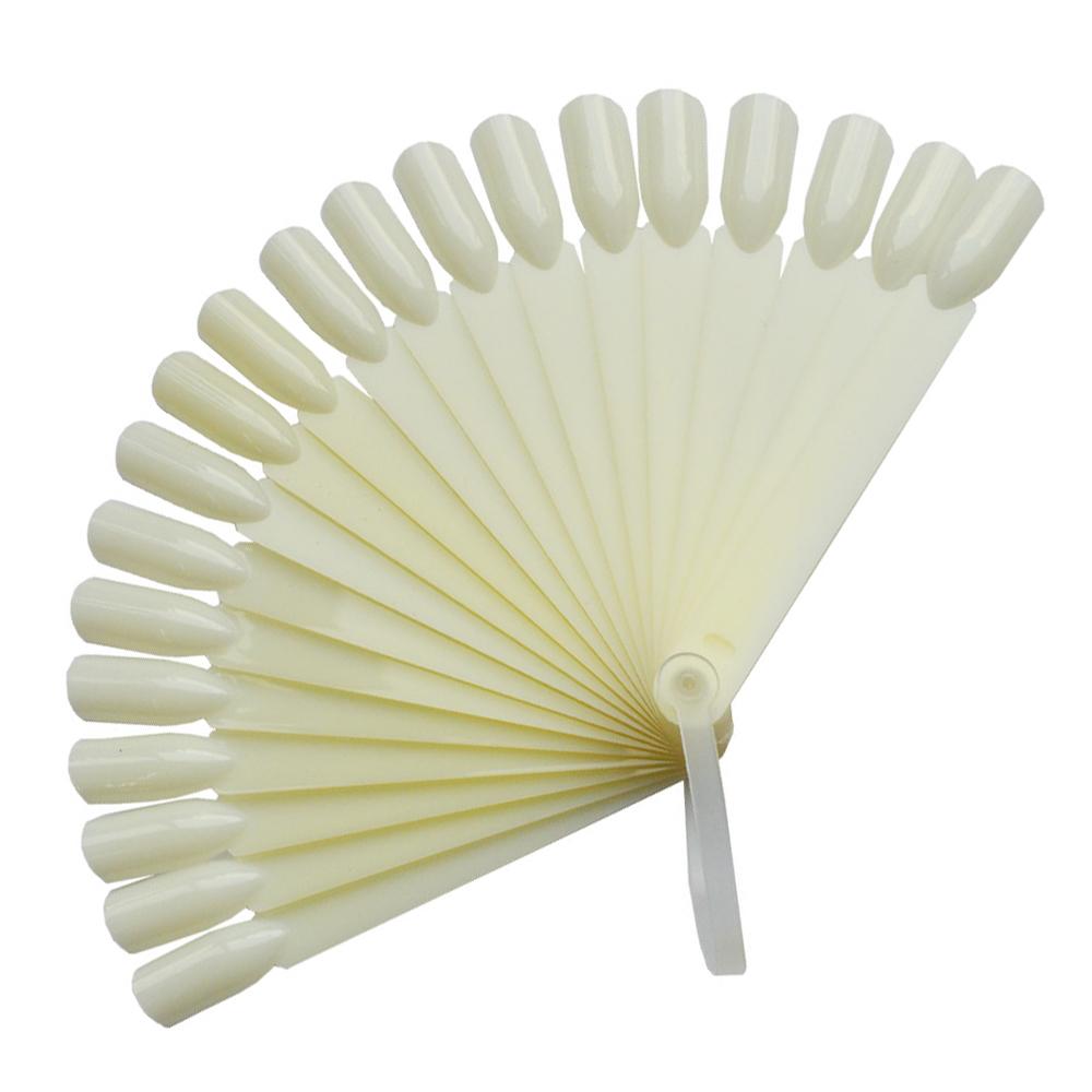 24-tips-set-Natural-Color-False-Nail-Art-Tips-Stick-Display-Practice-Fan-Board-Foldable-Pallet