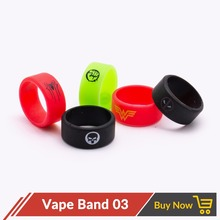 Volcanee 10pcs/lot Vape Band for E Cig Protection Decoration Ring 10mm Silicon Rubber Band for RDA RTA RDTA Atomizer(China)