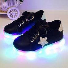 Led Luminous Shoes For Boys Girls Fashion Light Up Casual Kids 4 Colors Outdoor New Glowing Children Sneaker