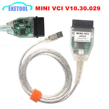 Latest V10.30.029 MINI VCI J2534 For Toyota TIS Techstream Interface OBDII Standard Communication Diagnostic MINI-VCI USB Cable