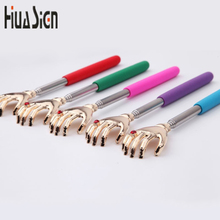 23-58cm Adjustable Lover's Hand Practical Handy Stainless Pen Clip Back Scratcher Telescopic Pocket Scratching Massage Kit Claw(China)