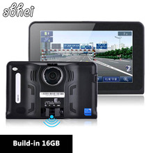 7 inch Android Vehicle GPS Navigation Rear view cameraTruck Car GPS Navigator Car Tablet PC Radar Detector built-in 8 gb / 16 gb