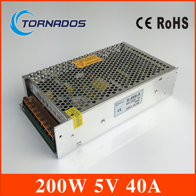 power supply unit 5v 40A 200W Switching power supply Driver For LED Light Strip Display Factory Supplier ac to dc 5v 40a<br>