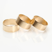 9Pcs/Set Gold Ring Set Punk Rock Stack Plain Midi Knuckle Ring Unisex Design High Quality Band Finger Rings Set Jewelry
