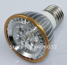 Wholesale - E27 4pcs /Lot High power CREE 10W 5x2W GU10 E27 B22 Led Light Lamp Spotlight(China)