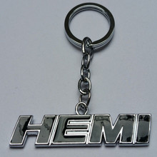 BBQ@FUKA Car Auto Black/Red/White HEMI Emblem Metal KeyChain Key ring key chains Fit for Dodge Challenger SRT 485-HP 6.4L 392 V8