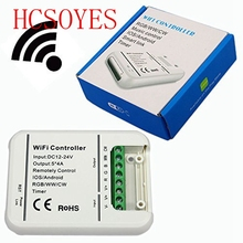 HCSOYES 16Million colors Wifi 5channels RGB/WW/CW led controller smartphone control music and timer mode wifi led controller Ra(China)