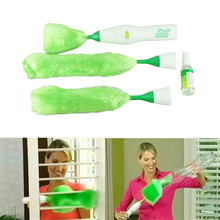 1 set Multifunctional Electric Green Feather Dusters Dust Cleaning Brush for Blinds Furniture Electronics drop shipping