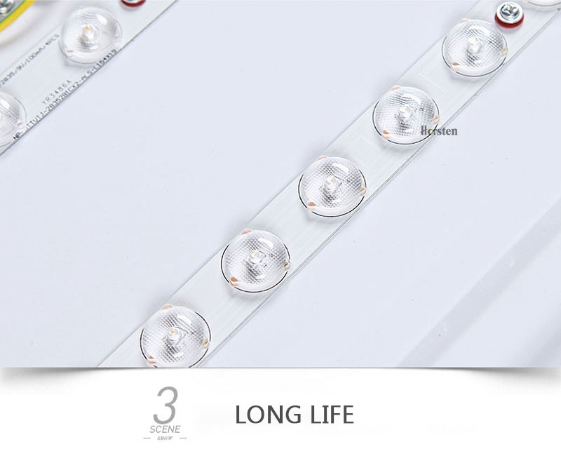 Modern Simple Acrylic LED Ceiling Lights Minimalist Rectangular Ceiling Lamp With Romote Control For Living Room Bedroom 220V (14)