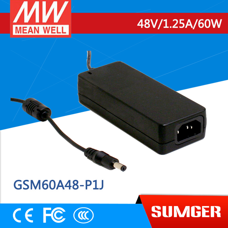 NEW [Sumger] MEAN WELL original GSM60A48-P1J 48V 1.25A meanwell GSM60A 48V 60W AC-DC High Reliability Medical Adaptor<br><br>Aliexpress