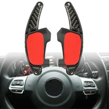 Pair Carbon Fibre Gear Shift Steering Wheel Extension Paddle For VW /Golf MK7 GTI /GTD