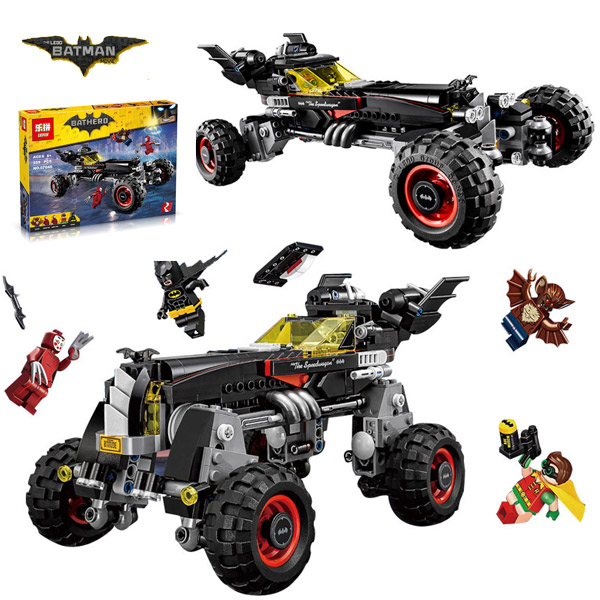 2017 LEPIN 07045 Batman Movie Batmobile Features Robin Man-Bat Kabuki Twins Building Block Toys Compatible Legoe Batman 70905<br>