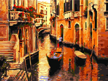 HQ Digital Diy oil painting by number Venice city of Italy wall decor on canvas oil paint coloring by numbers drawing pictures