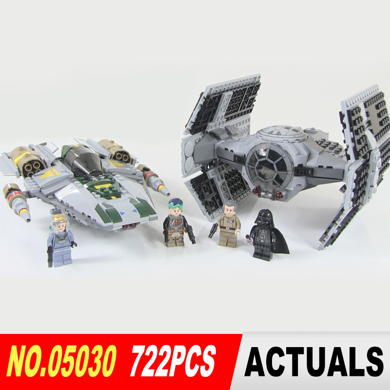 05030 LEPIN 722Pcs Star Wars Vader Tie Advanced VS A-wing Starfighter 75150 Building Blocks Compatible STAR WARS Brithday Gifts<br><br>Aliexpress