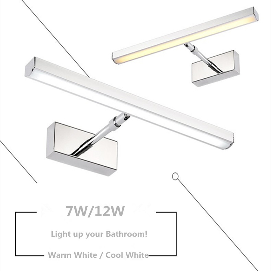 Stylish Anti Fog Waterproof 7W 12W LED Vanity Light Bathroom Light Make-Up Wall Light Mirror Light Picture Front Lamp AC90-260V<br><br>Aliexpress