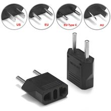 European Euro EU Plug Adapter 2 Pin US Brazil Italy To Europe German Travel Power Adapter Plug Outlet Converter Electric Socket