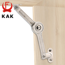 KAK Randomly Stop Adjustable Hinge Cabinet Cupboard Door Furniture Lift Up Strut Lid Flap Stay Support Hydraulic Hinges Hardware(China)