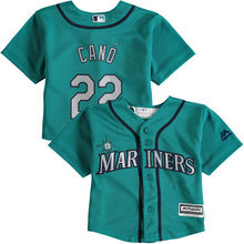 MLB Infant Seattle Mariners Robinson Cano Baseball Alternate Teal Official Cool Base Player Jersey(China)