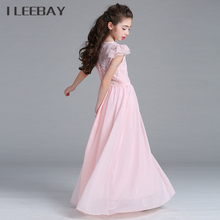 Baby Girls Chiffon Dresses Floral Kids Evening Dress for Party and Wedding Teenager Princess Bridesmaid Pageant Graduation Gown