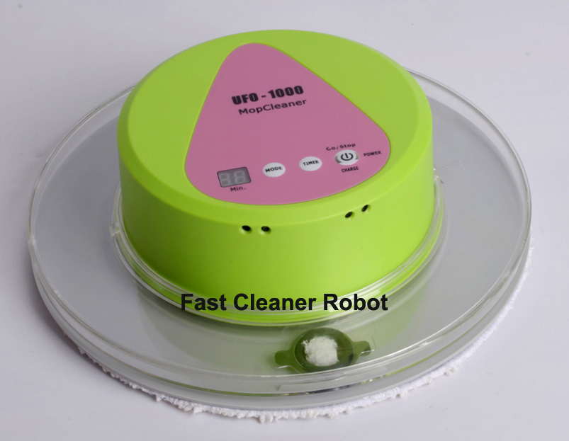 Newest Mini Intelligent Wet and Dry Mop Cleaner Robot With 247ML Big Water Tank(China (Mainland))