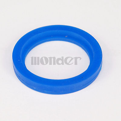 Blue Silicone Flat Gasket Ring Washer Fit 19mm O//D Sanitary SMS Socket Union 5