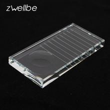 zwellbe 2 in 1 Professional Glass Eyelash Extensions Length Separator Tool Adhesive Glue Holder Pallet