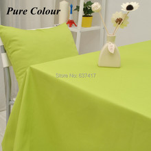 Free Shipping Higt Quality Pure color Series Fruit Green Table cloth/Table Cover Accept Customized 100% Cotton Canvas Tablecloth