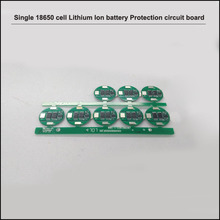3.7V 1S 18650 battery single cylindrical cell PCB board and protection circuit with 4A constant discharge current
