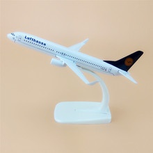 16cm German AIR Lufthansa B737 Airlines Boeing 737 800 Airways Airplane Model Plane Model W Stand Alloy Metal Aircraft Gift(China)