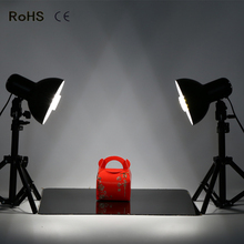 photographic equipment lamp cover flash light lamp  2*diameter 17cm Iron covert+2*50cm flat head light stand