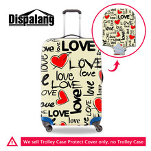 Durable 3D LOVE Heart Print Womens Luggage Cover For 18-30 Inch Suitcases Fashion Travel Accessories Suitcase Protective Cover