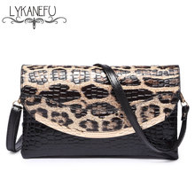 LYKANEFU Patent Pu Material Clutch Bag Women Messenger Bags for Women Clutches Evening Bag Casual Small Bolsas Femininas Couro