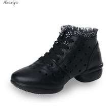 Akexiya New Dance Practice Shoes for Women Girls Breathable Jazz Dancing Shoes Black Red Dance Jazz Sneakers Cheap Ladies Lace