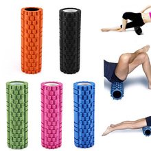 Sports Fitness Floating Point Practical Yoga Foam Roller for Gym Exercise Sports Massage Pilates 5 Color Available EVA Yoga Roll(China)