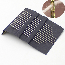 A04 Assorted 12pcs Self Threading Needles Hand Sewing Needles Home Household Tools(China)