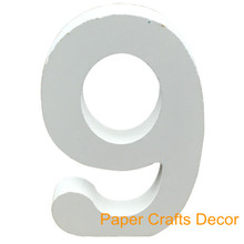(1pc Only) 4inch=10cm White Wooden Table Numbers Personalized Painted Tablescape Crafts Wedding Party Event Signage Favors